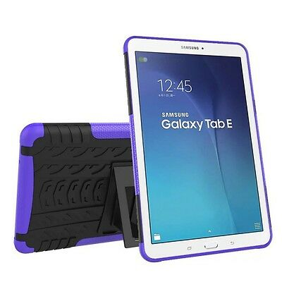 Hybrid Outdoor Protective Case Purple for Samsung Galaxy Tab E 9.6 SM T560 Pouch