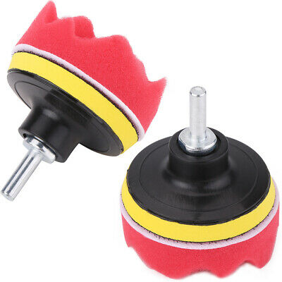 12x 3 Inch Sponge Buffing Polishing Pad Kit for Car Polisher with Drill Adapter