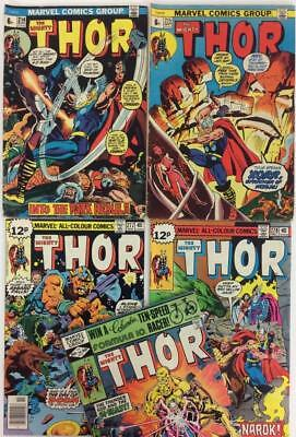 Thor Bronze Age Bundle. 5 x issues from #214 (Marvel 1973 onwards)