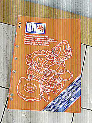 QH3 1991  Thermostats and Radiator Caps Catalogue und andere
