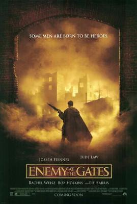 Enemy at the Gates Movie POSTER 27 x 40 Jude Law, Joseph Fiennes, Ed Harris, B