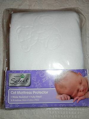 Baby Cot Mattress Protector Fully Fitted 70Cm X 1.32M X 19Cm