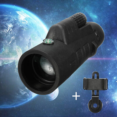 10x50 HD Day Night Vision Camping Hunting Optical Monocular Telescope w/ Holder