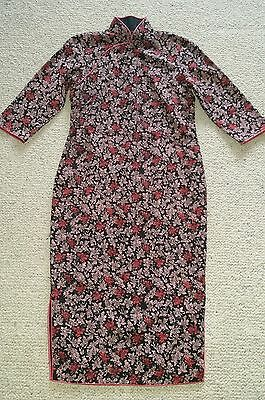 Vietnamese dress beautifully tailor made with matching jacket small size 6 - 8