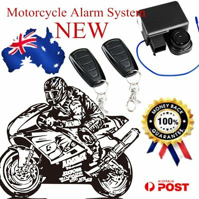 Anti-Theft Motorcycle Motorbike Start Security Alarm System 2 Remote Control AU