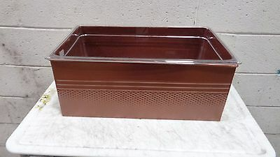 Full Size Copper Rectangular Ice Display / Beverage Tub w/Clear Food pan