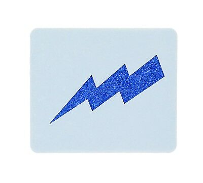 Lightning Bolt Face Painting Stencil 6cm x 7cm 190micron Washable Reusable