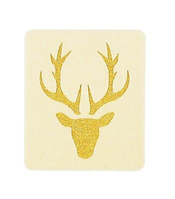 Stag Face Painting Stencil 6cm x 7cm 190micron Washable Reusable