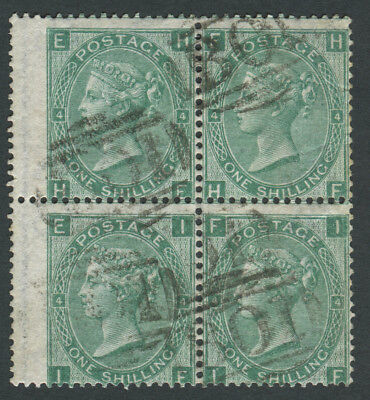 GB Used in Br. Levant Z37 1s Green Pl4, Wmk emblems, HE/IF with of Alexandria