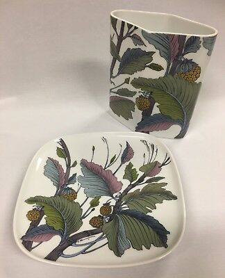 Vintage Signed Rosenthal Studio-linie Vase and Wall Plate