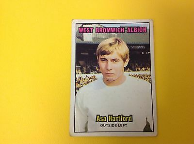 A&bc 1970/71 Orange Back Football Card #129 Asa Hartford, West Bromwich Albion.