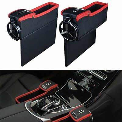 Auto Accessory Seat Seam Storage Box Car Seat Organizer Drivers Side Cup Holder