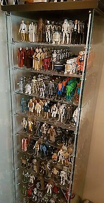 Custom Extra Shelves & Brackets to Fit Ikea Detolf Cabinet - Star Wars Figures