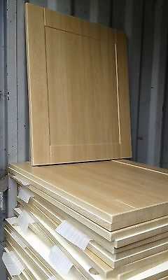 Kitchen Unit Cabinet Door and Drawer Fronts Light Oak Effect Shaker Panels