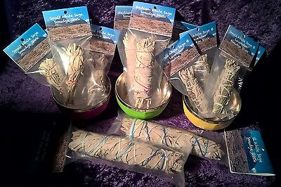 White Sage Smudge Stick 4 pack sm/med/jumbo & lavender-sage- avail from 28th Aug