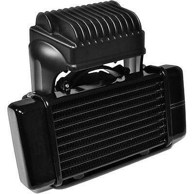 Jagg Low Mount Fan Assist Oil Cooler Kit 10 Row For Harley Touring 2009-2015