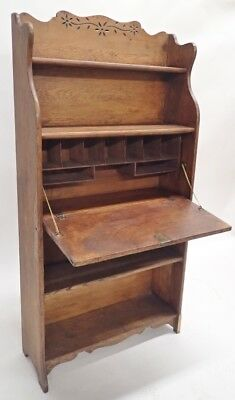 Carved Victorian Secretary Desk with Bookcase Lot 205