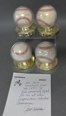 Collection of Four 1970s HOF Autographed Baseballs Lot 1