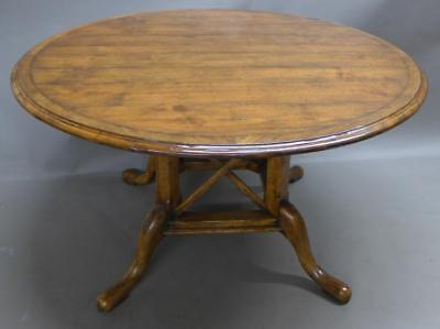 Country French Round Plank Dining Table Lot 81