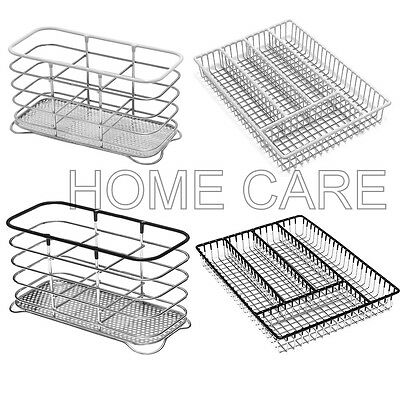 Addis 5 Compartment Cutlery Holder Drawer Organiser & Cutlery Holder Drainer Set