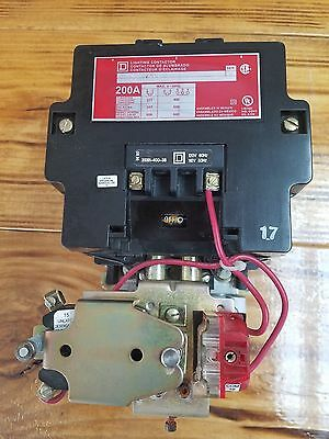 Square D 8903SV02 200 Amp Lighting Contactor W/ 120 V Coil (N5) looks new