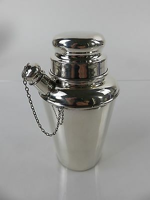 Currier & Roby Art Deco Diminutive Sterling Silver Cocktail Shaker, c1920s