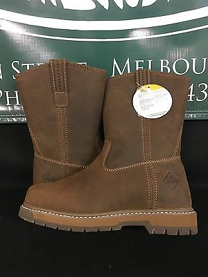 b4fc7914b5fff Muck Boot Co. Wellie Classic Work Boot Brown Men Sizes Wide LTH904 BRAND NEW