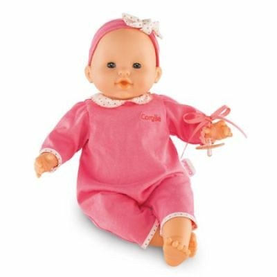 """Corolle Dmn06 Mon Classique Pink 14"""" Doll With Pacifier - New, Sealed"""