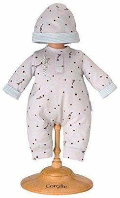 "Corolle Y5472 Grey Star Pajamas With Cap For 14"" Baby Dolls - New, Sealed"