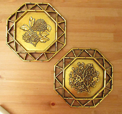 VINTAGE SYROCO WALL Hanging Plaques Set of 2 - $14.39 | PicClick
