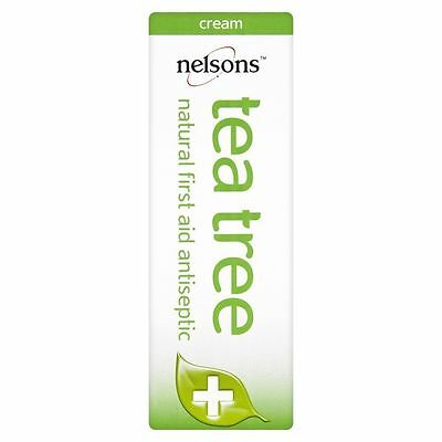 Nelsons Tea Tree Oil Natural Homeopathic First Aid Antiseptic Cream Healing 30ml