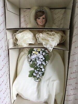 Princess Diana Bride Doll With Stand Danbury Mint