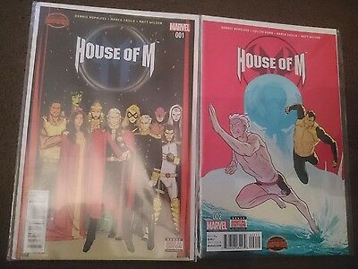 house of m secret wars #1&2 first prints