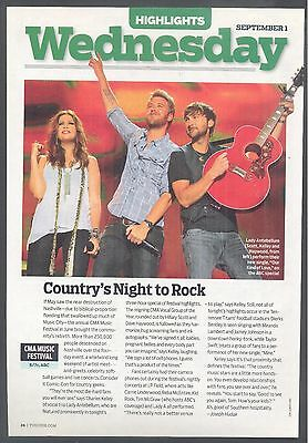 "Lady Antebellum, Country Music Stars in 2010 Magazine Clipping, ""Night to Rock"""