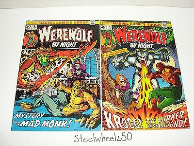 Werewolf By Night #3 & 8 Comic Lot Marvel 1973 Mike Ploog Len Wein Gerry Conway