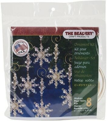 Beadery Plastic Holiday Beaded Ornament Kit Snow Crystal Danglers 4-inch X 8