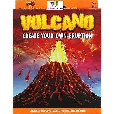 World Of Science Volcano Kit Make Your Own Eruption Kids Set Experiment Gift New