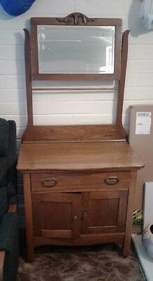 Antique solid wood wash stand