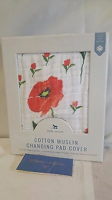 NEW! Little Unicorn Cotton Muslin Changing Pad Cover Summer Poppy FREE SHIPPING