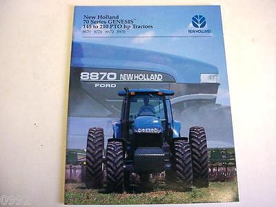 Ford NH 4-Wheel Drive Tractors Brochure 8670, 8770, 8870 & 8970 1995 32 Page