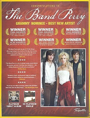 "the Band Perry, Country Music Stars in 2012 Magazine Clipping, ""Grammy Nominee"""