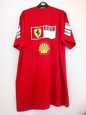 Puma Scuderia Ferrari F1 Alonso Race T Shirt Large Mens