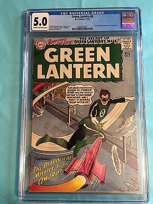 Green Lantern #4 (Jan-Feb 1961, DC) 5.0 CGC NEW CASE! CR/OW Pages