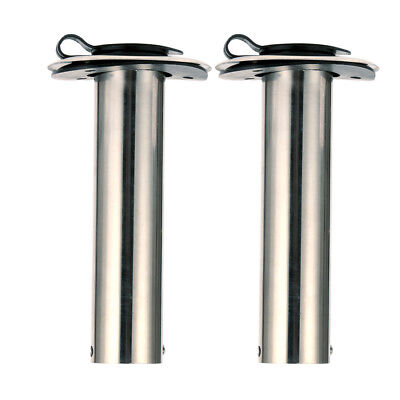 Pair 90 Degree ROD Holders Stainless Steel Rubber Cap, Liner, Gasket,AM New