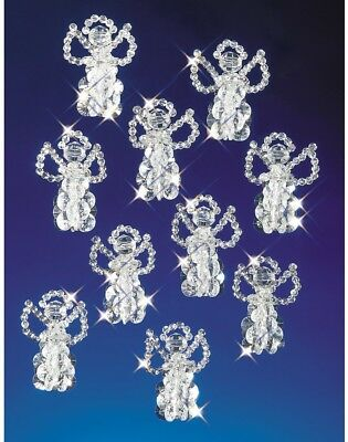 Beadery Plastic Holiday Beaded Ornament Kit Little Angels 2.5-inch Makes 18