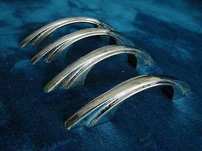 Lot Of 4 Vintage Rare Art Deco - Super Retro Chrome Drawer Pull Handle - Used