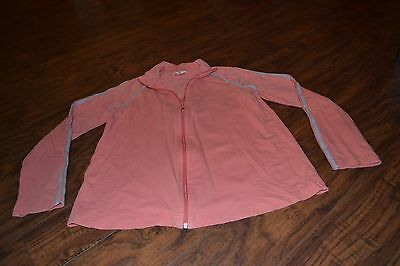 F5- Two Hearts Maternity Coral/Orange Long Sleeve Full Zip Jacket Size M
