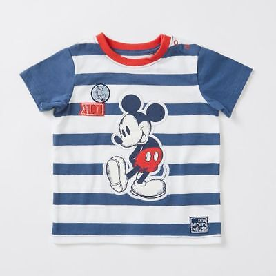 NEW Disney Baby Mickey Mouse Stripe T-Shirt Kids