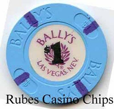 1.00 Chip from the Ballys Casino in Las Vegas Nevada 4 inserts
