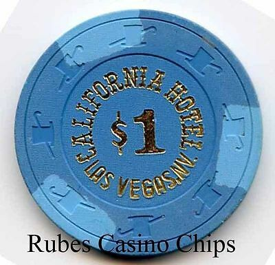 1.00 Chip from the California Casino in Las Vegas Nevada Blue